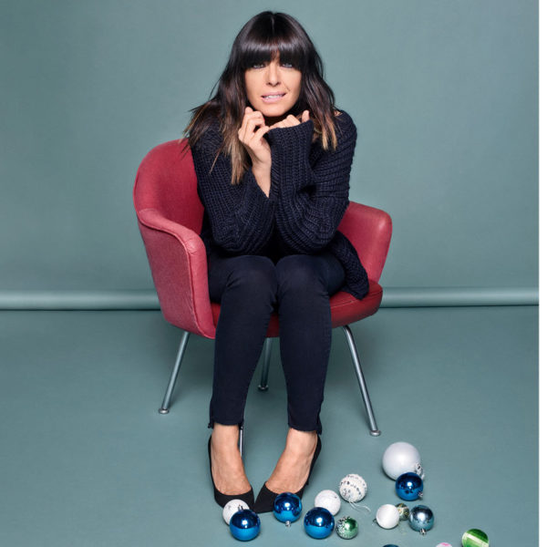 Claudia Winkleman with baubles