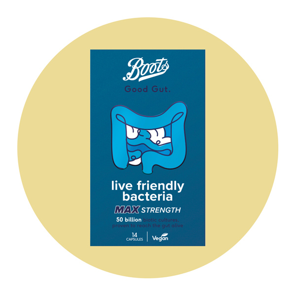 Boots Good Gut Live Friendly Bacteria Max Strength Capsules